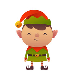 little cute cartoon elf on white background vector image