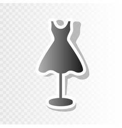 mannequin with dress sign new year vector image