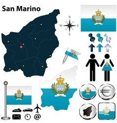Map of San Marino vector image