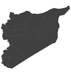 Map of syria split into regions vector