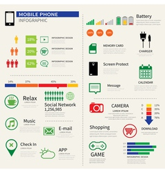Mobile smart phone infographic vector