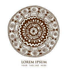 Ornamental round ethnic pattern vector image
