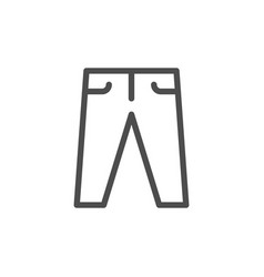 Pants line icon vector