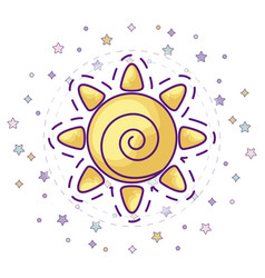 Patch hot sun icon vector