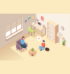 Psychologist counseling teenager psychotherapy vector