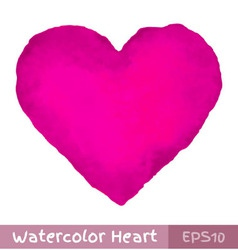 Purple Watercolor Heart vector
