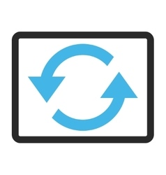 Refresh Arrows Framed Icon vector
