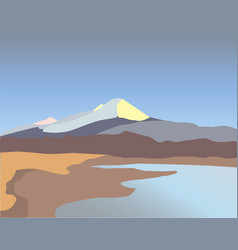 river in the mountains vector image