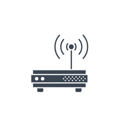 router related glyph icon vector image