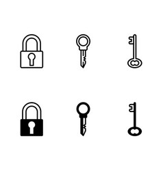 security icon isolated vector image