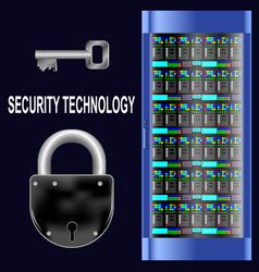 security technology vector image