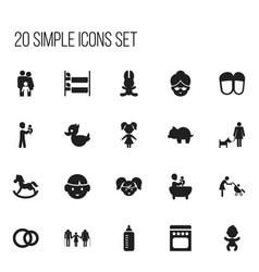 Set of 20 editable folks icons includes symbols vector
