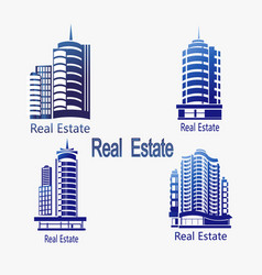 set of icons real estate icons of ar vector image