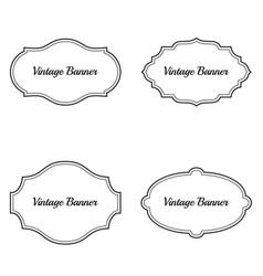 set vintage frames vector image