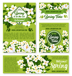 Spring floral design for holiday greetings vector