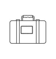 Suitcase luggage equipment faceless vector