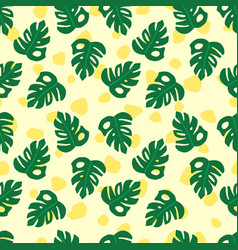 summer tropical jungle monstera pattern vector image