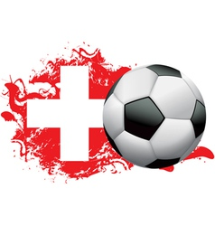 Switzerland Soccer Grunge vector image