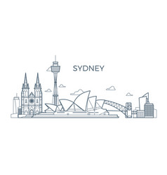 Sydney city line skyline with buildings and vector