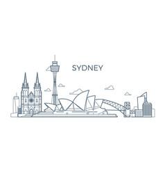 sydney city line skyline with buildings vector image