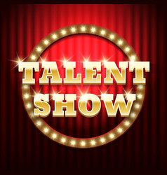 Talent show golden sign vector