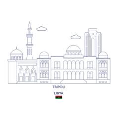 Tripoli city skyline vector