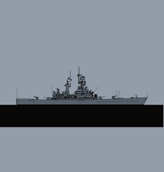 us navy virginia class guided missile cruiser vector image