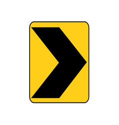 Usa traffic road sign a sharp right curve or vector