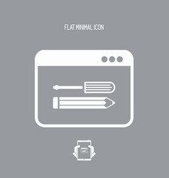 Web assistance services - flat icon vector