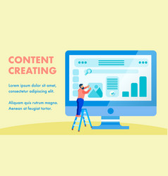 Website interface content creating banner layout vector