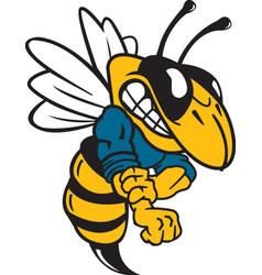 Yellow jacket sports team mascot logo vector