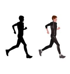 female marathon runner vector image vector image
