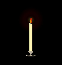 holy memory candle vector image