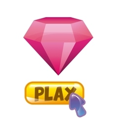 pink diamond icon vector image