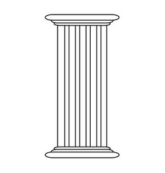 roman column antique architecture construction vector image vector image