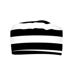 Striped prisoner cap vector image vector image