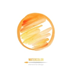 watercolor element vector image vector image