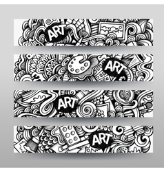 Graphics hand drawn sketchy trace Art vector image vector image