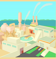 industrial factory concept cartoon style vector image