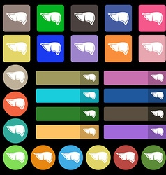 Liver icon sign Set from twenty seven multicolored vector image vector image
