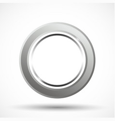 Metal ring isolated vector
