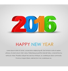 Poster Happy New Year 2016 vector image vector image