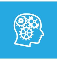 brain gears 2 vector image