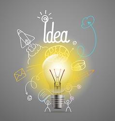 Bright lamp Idea concept vector image vector image