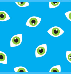 seamless pattern with eyes vector image vector image
