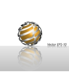 Abstract glass hi-tech sphere logo icon vector image