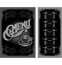 black and white pattern for coffee menu vector image