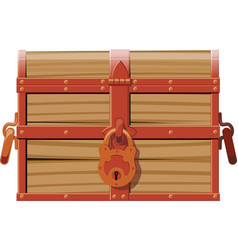 closed wooden chest vector image