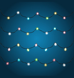 festive color garlands clipart vector image vector image