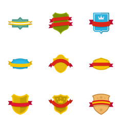 Flag of truce icons set flat style vector